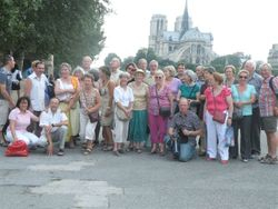 Our party beside the River Seine