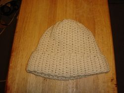 Creme Color Crochet Cap