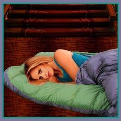Buffy in Sleeping Bag