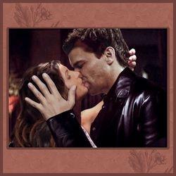 Cordelia and Angel Kissing
