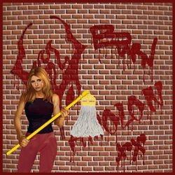 Buffy Cleaning Graffiti
