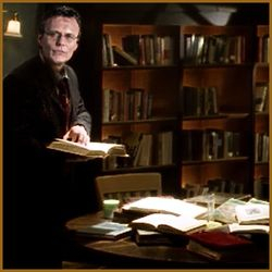 Giles Doing Research at Home