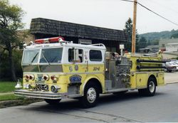 Our Engine with Community Volunteer Fire Company of Mahaffey