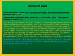 Odissi Lifetime Acvievement Dance Awards