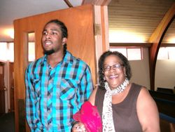 James & mom
