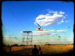 Huey landing