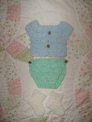 Newborn Shirt & diaper cover