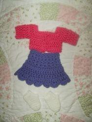 Doll shirt & skirt