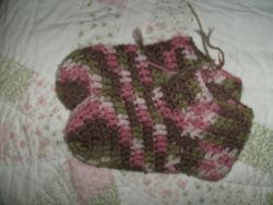 pink camo adult slippers