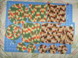 Cotton wash cloths and coasters