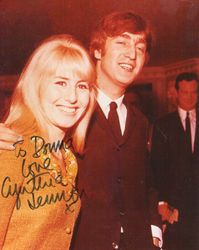 Cynthia Lennon autographed photo
