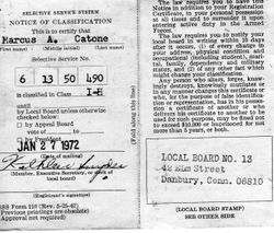 Draft Card-Vietnam Era