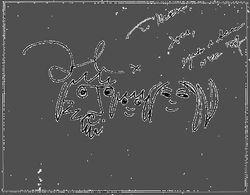 Yoko Ono 1987 Message front