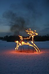 Amazing Fire Sculpture