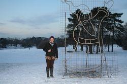 Helen Gaunt, Fire sculpture artist