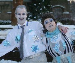 Marko & Cathie frozen together