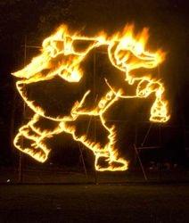 Mr Badger Fire Sculpture