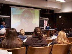 Maryam al Sheroogi via Skype