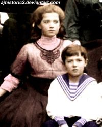 Maria and her Brother Alexei