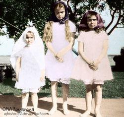 Maria with Olga and Anastasia
