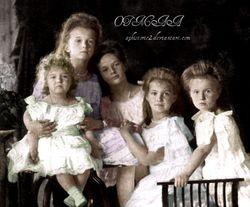 Alexei, Olga, Tatiana, Maria, Anastasia