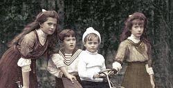 Masha, Alexei, Anastasia, and a cousin