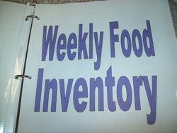 10 Weeks of Food Inventory