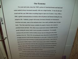 Write a paper on what we learn in the stock market, banks, health care, job, etc.