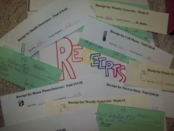 Receipts, Bills, Checks