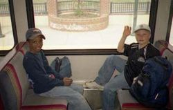 Matthew & Liam on Train