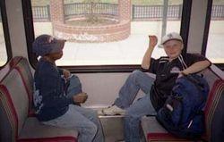 Matthew & Liam On Train 2