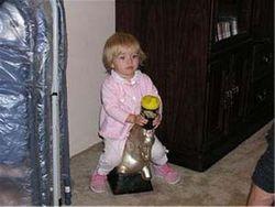 Zoey on Horseback