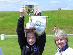 Connaught Winning Captain Carol Hegaty