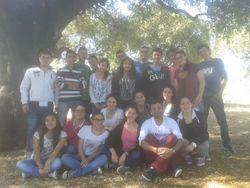 2014, camp avec les eleves de la seconde C