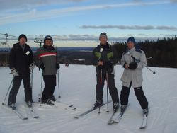 4 real men topping the hill