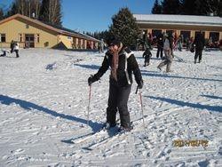 The happiest skiier
