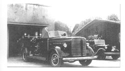 1941 LaFrance and the old Model T