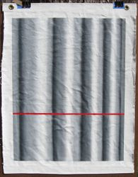 Curtain with Red Line