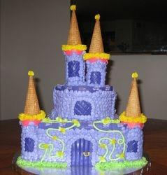 Lavender Castle Cake