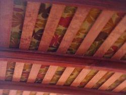 wood slat roof