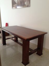 Dining table (UK) with whicker chairs