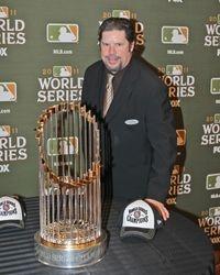 Gunner Denver with World Series Trophy
