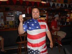 Jon T with his winning ticket