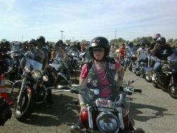 Gigi saddled up