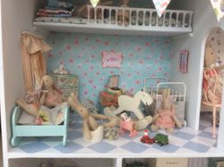 Bunny Towers nursery with gallery bed.