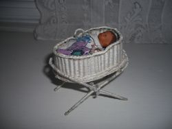 Handmade wicker crib