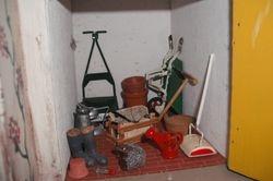 Messy garage.