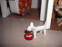 Pipecleaner dog-made by Barbara