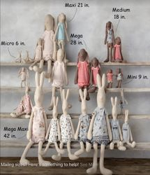 Size Chart for Maileg Bunnies