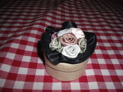 This hat was an old brooch.
